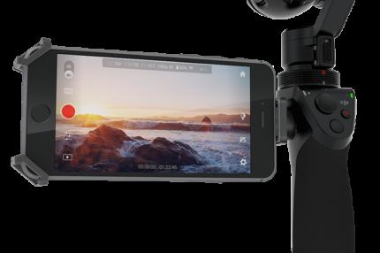 4K画質でブレのない撮影ができるカメラ一体型手持ちジンバル DJI OSMO
